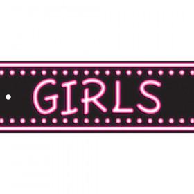 Laminated Hall Pass Neon Girls