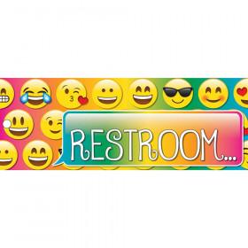 Laminated Emoji Restroom Pass