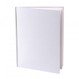 "Hardcover Blank Book 6"" x 8"" Portrait, White"