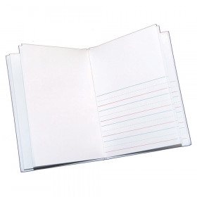 "Hardcover Blank Book Primary Lined, 6"" x 8"" Portrait, White"