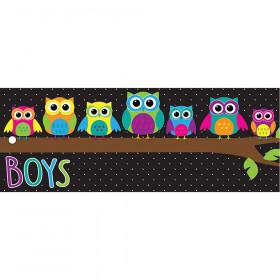 Laminated Hall Pass Owls Boys