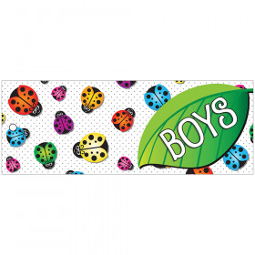 Laminated Hall Pass Ladybug Boys