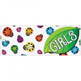 Laminated Hall Pass Ladybug Girls