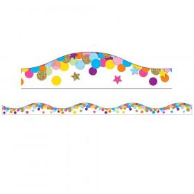 Magnetic Confetti Scallop Border 6 Pcs