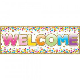 """Magnetic Welcome Banners, 6"""" x 17"""", Confetti"""