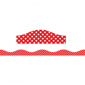 Magnetic Border Red & White Dots