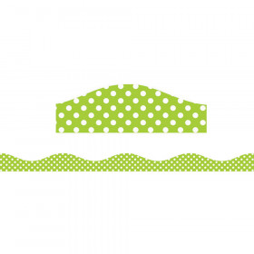 Magnetic Border Lime & White Dots