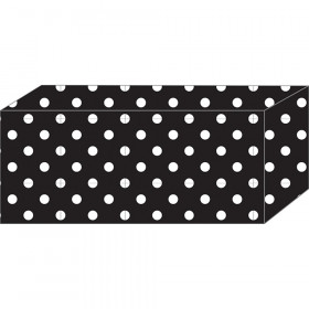 "Block Magnets, Heavy Strength, 1-7/8"" x 7/8"" x 3/8"", B&W Dots, Pack of 5"