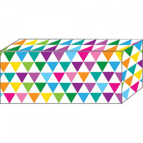 "Block Magnets, Heavy Strength, 1-7/8"" x 7/8"" x 3/8"", Colorful Triangles, Pack of 5"