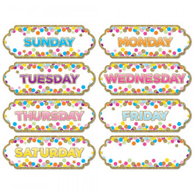 Magnetic Confetti Days The Week