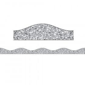Magnetic Border Silver Sparkle