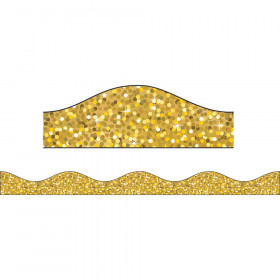 Big Magnetic Border Gold Sparkle