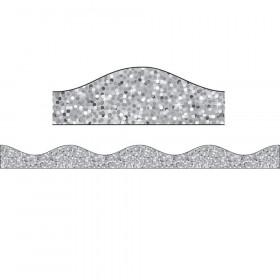 Big Magnetic Border, Silver Sparkle, 12'