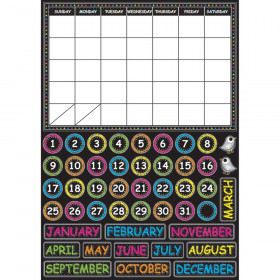 Chalk Calendar Magnetic Mini Bulletin Board Set