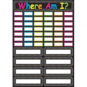 Chalk Where Am I Magnetic Mini Bulletin Board Set