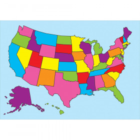 Magnetic Us Map Chart Write On Wipe Off 12X17