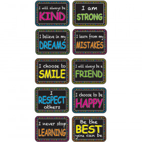 Non-Magnetic Mini Whiteboard Erasers, Character Building, Pack of 10