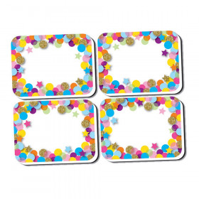 Non-Magnetic Mini Whiteboard Erasers, Confetti, Pack of 10