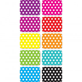 """Magnetic Mini Whiteboard Erasers 2"""" x 1.5"""" x .75, Dots, Pack of 10"""