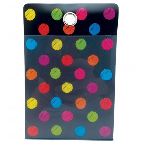 Smart Poly Fldr Chalk Dots 4X6 10Pk