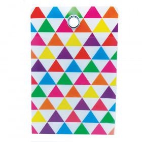Smart Poly Folder Triangle 4X6 10Pk