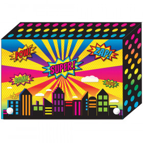 Super City Index Card Boxes 3X5in Decorated Poly