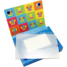 5 Pk Index Card Holder 4X6 Owls