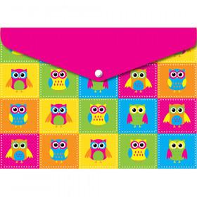6 Pk Folder W/ Snap 95X13 Owls
