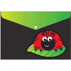 6 Pk Folder W/ Snap 95X13 Ladybug