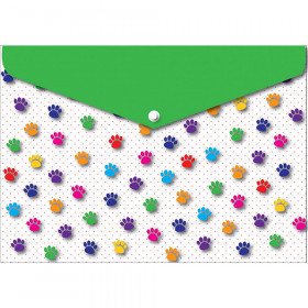 6 Pk Folder W/ Snap 95X13 Paws Colorful
