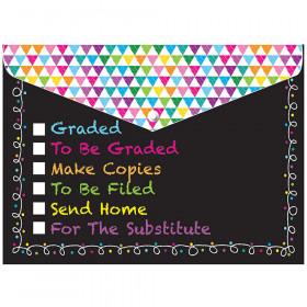 6 Pk Folder W/ Snap Classroom Tasks Organizer