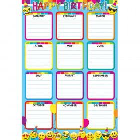 Emoji Birthday Smart Poly 13X19 Chart