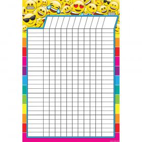 "Smart Poly Emoji Incentive Chart, Dry-Erase Surface, 13"" x 19"""