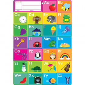 Smart Abcs Fill In Word Chart 13X19 Dry-Erase Surface