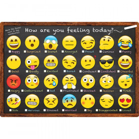Smart Emoji How You Feeling Chart Dry-Erase Surface