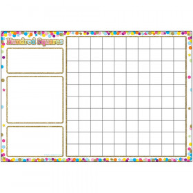Smart Confetti Hundred Squares Chrt Dry-Erase Surface