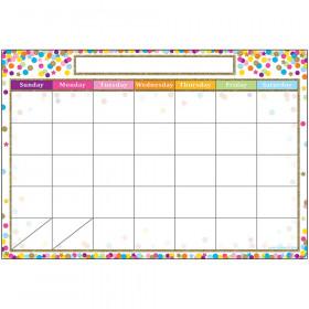 Smart Confetti Calendar Chart Dry-Erase Surface