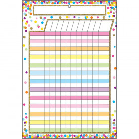 Smart Confetti Incentive Chart Dry-Erase Surface