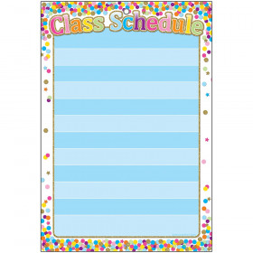 Smart Confetti Class Schedule Chart Dry-Erase Surface