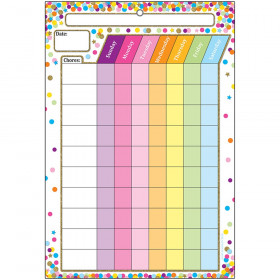 Smart Confetti Chore Chart Dry-Erase Surface