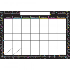 "Smart Poly Chart, 13"" x 19"", Chalk Dots with Loops Calendar"