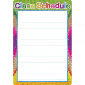 Smart Burlap Stitched Class Sched Dry-Erase Surface