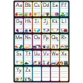 "Smart Poly Chart, 13"" x 19"", ABC Pictures, w/Grommet"