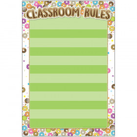 "Smart Poly Chart, DonutFetti Classroom Rules, 13"" x 19"""