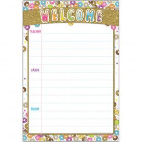 "Smart Poly Chart, DonutFetti Welcome, 13"" x 19"""