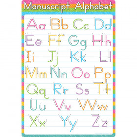 "Smart Poly Chart Manuscript Alphabet, 13"" x 19"""