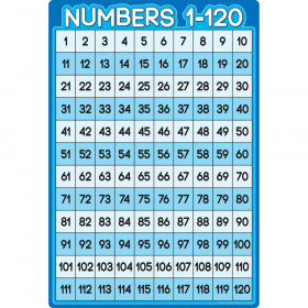 """Smart Poly Chart Numbers 1-100, 13"""" x 19"""""""