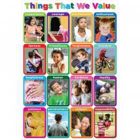 """Smart Poly Chart Things We Value 13"""" x 19"""""""