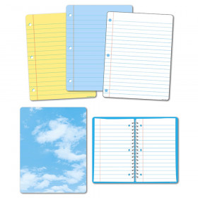 5Pk Big Notebook Paper Class Charts Smart Poly