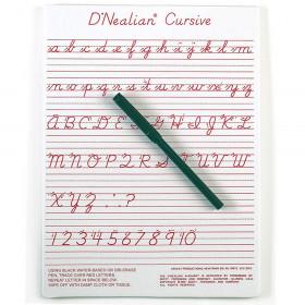 """D'Nealian Cursive Write-On/Wipe-Off Board, 9"""" x 12"""""""